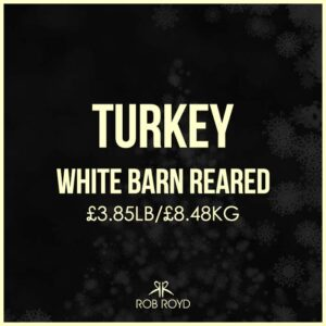 Turkey White Barn Reared